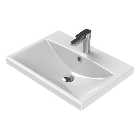 Nameeks Elite Wall Mounted Bathroom Sink In White