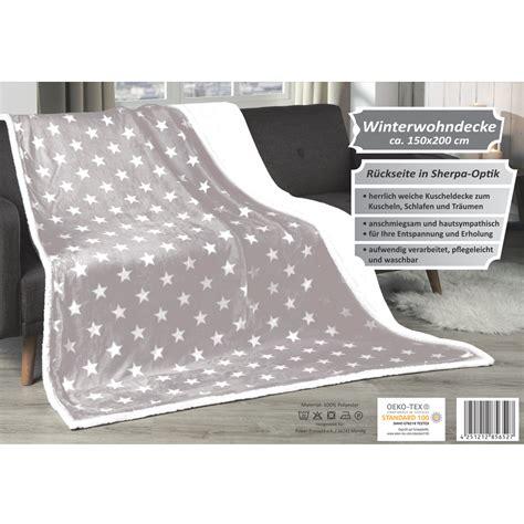 bettdecke grau wohndecke 150x200cm grau sterne kuscheldecke winter decke