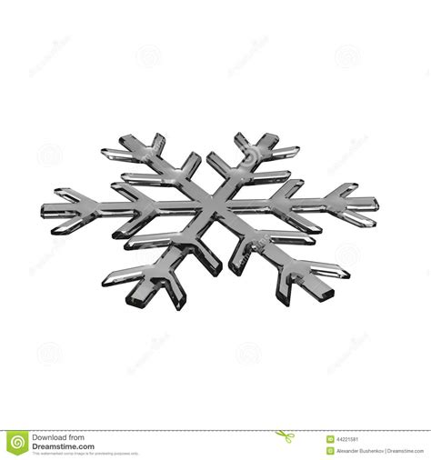 gray glass snowflake stock illustration image 44221581