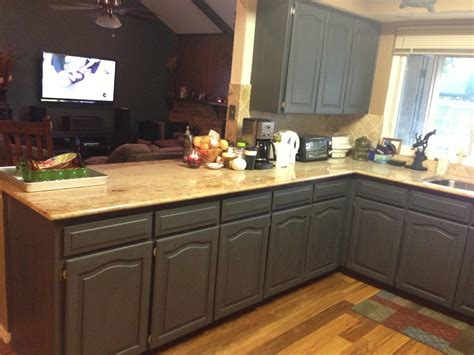 chalk painted kitchen cabinets wooden color