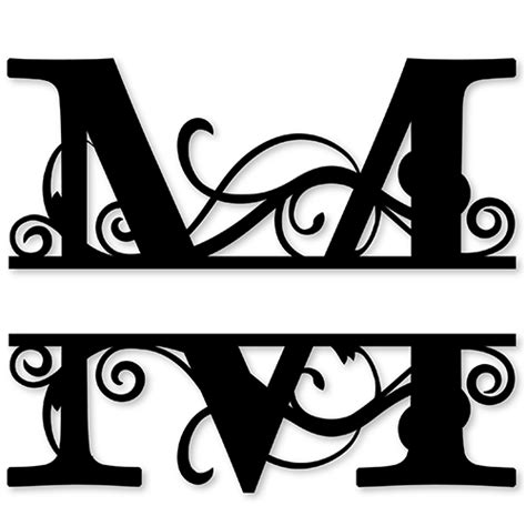 printable monogram stickers monogram letter die cut vinyl decal pv1320