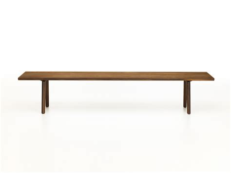 buy wooden bench buy the vitra wood bench smoked oak at nest co uk