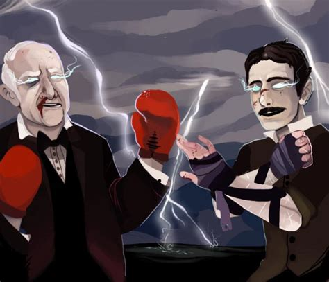 Tesla Vs Eddison Edison And Tesla S Electric Feud By Techgnotic On Deviantart
