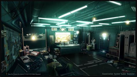 concept art interior on pinterest rpg dead space and cyberpunk this isn t office space it s deus ex office spaces