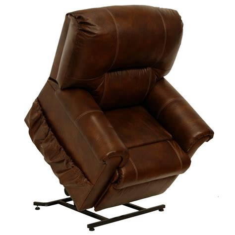leather power lift recliner chair catnapper vintage leather touch power lift recliner chair