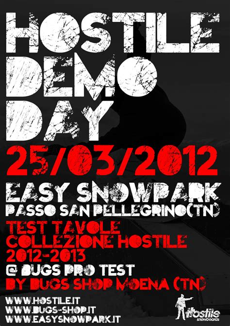 tavole hostile secondo hostile demo day easy snowpark 4actionsport