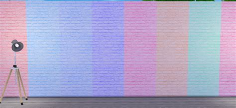 Pastellfarben Wand by My Sims 4 Pastel Brick Walls By Grilledcheeseaspiration