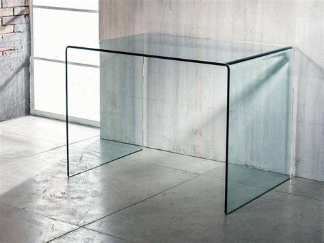 scrivania in vetro curvato tavolo scrivania in vetro curvato scriptorium