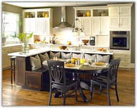 Kitchen island with bench seating home design ideas