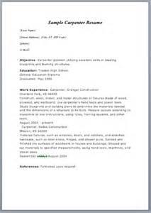 carpenter resume format sample resume - Sample Carpenter Resume