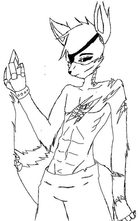 fnaf coloring pages foxy fnaf foxy uncolored by mysteriousprime168 on deviantart