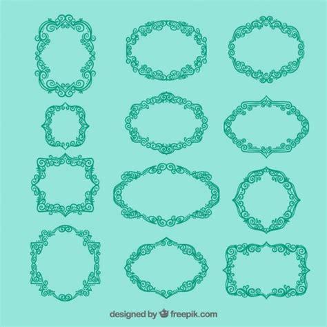 cornici ornamentali cornici turchese ornamentali scaricare vettori premium