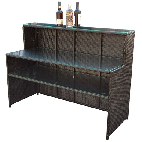 Wicker Table L Wicker Rattan Bar Restaurant Buffet Serving Table Dish Plate Storage Rack Cabinet 58 Quot L X 23 5 Quot W