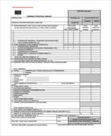 Nsf Budget Template Sample Proposal Budget Forms 8 Free Documents In Word Pdf