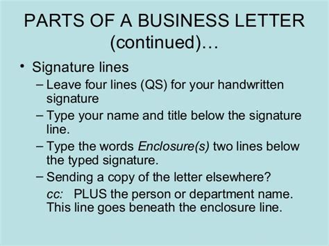 Powerpoint On Business Letter Parts business letters power point presentation 1205268709446738 3