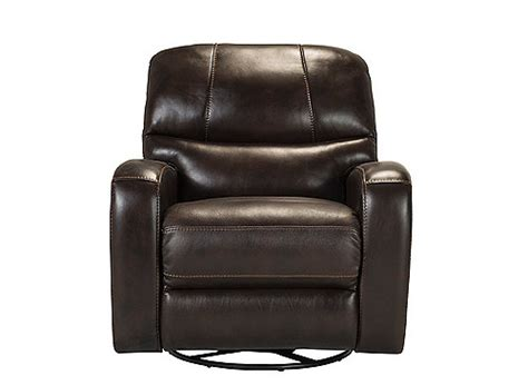 swivel power recliner tevin leather swivel glider power recliner chocolate