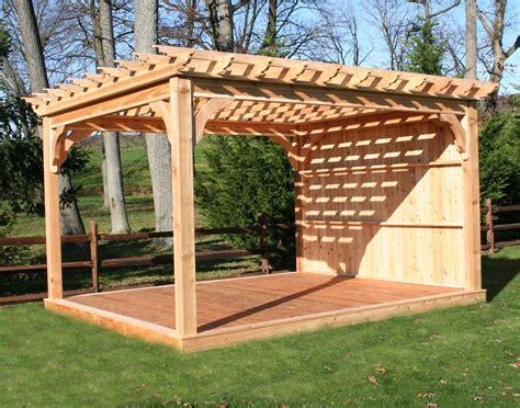 Red Cedar Free Standing 4 Beam Pergolas 6x6 Posts 2x6 Deck With Pergola Plans