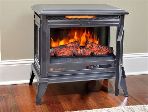 comfort smart electric fireplace comfort smart jackson gunmetal infrared electric fireplace