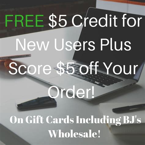 My Gift Cards Plus - raise com free 5 gift card credit plus take additional 5 off order my bjs wholesale