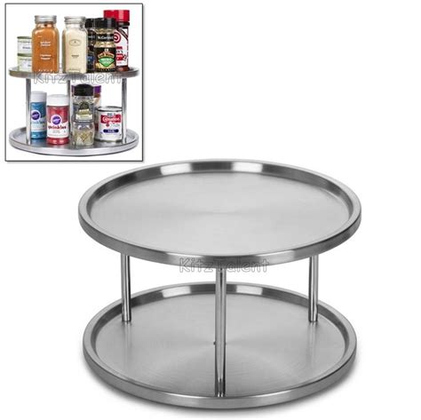 Pantry Lazy Susan Turntable kitchen cabinet pantry organizer 2 tier lazy susan