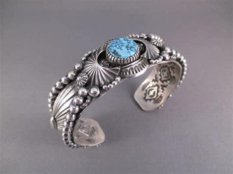 large sterling silver bracelet navajo jewelry delbert
