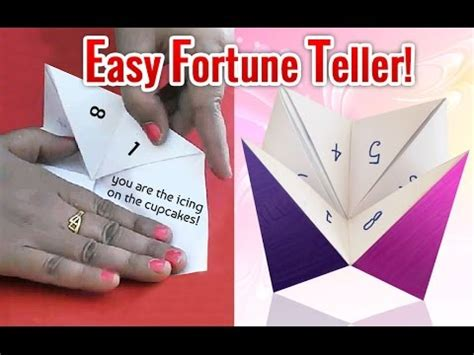 How To Make A Paper Fortune Teller Easy - how to make a fortune teller easy origami fortune teller