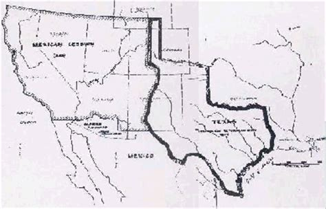 annexation of texas map the mexican american war