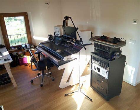 Music Commander Full Set Black Studio Desk Workstation Black Studio Desk
