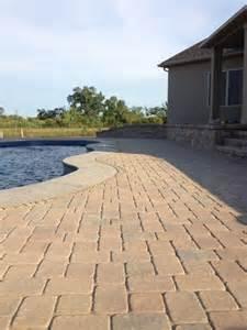 pool paver designs brick l post brick driveway light
