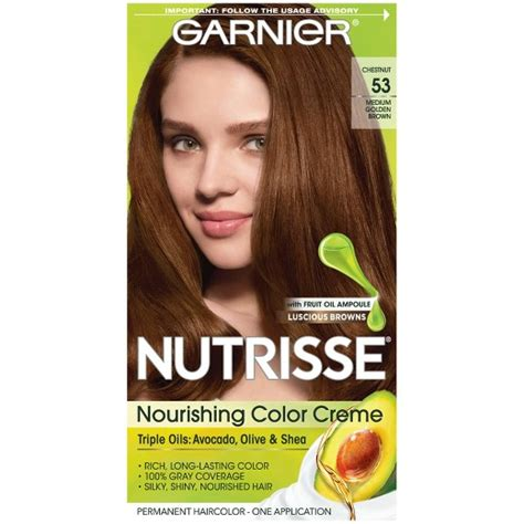 garnier fructis hair dye colors garnier 174 nutrisse 174 nourishing color creme 53 medium golden