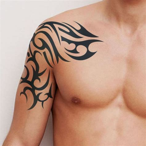 temporary body tattoos for men tafly s temporary wolf totem wolf
