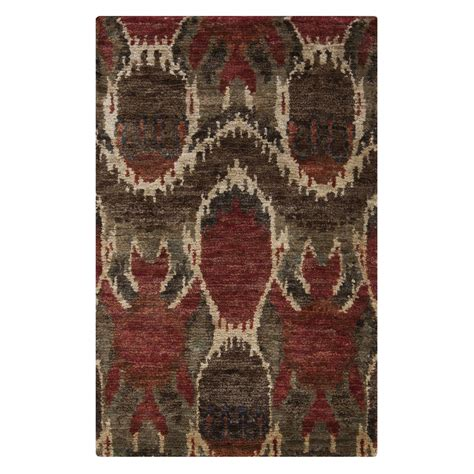 Poppy Area Rug by Surya Scr 5130 Fibers Area Rug Chocolate Poppy