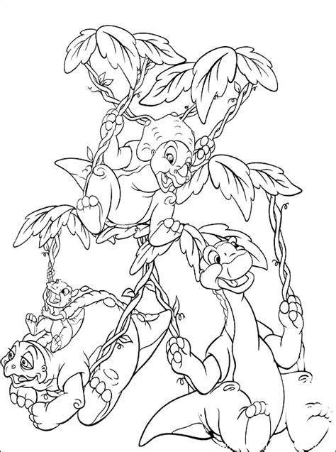 The Land Before Time Coloring Part 2 Land Before Time Coloring Pages