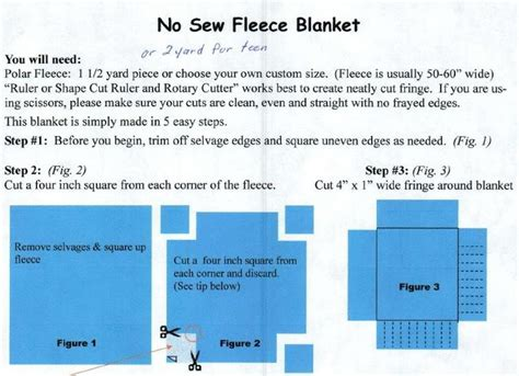 printable directions for making fleece tie blankets no sew fleece blanket fleece project ideas pinterest