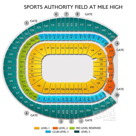 sports authority seating sports authority field at mile high seating charts and