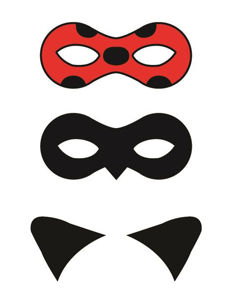 Printable Ladybug Mask   diy miraculous tales of ladybug and cat noir masks