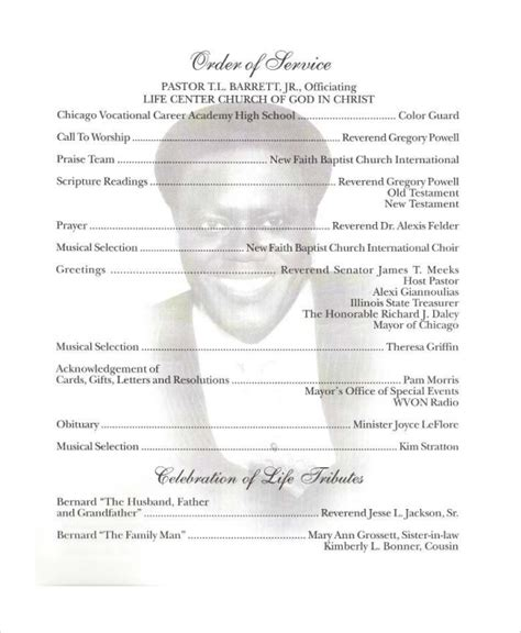 obituary program template obituary templates 28 images free obituary template