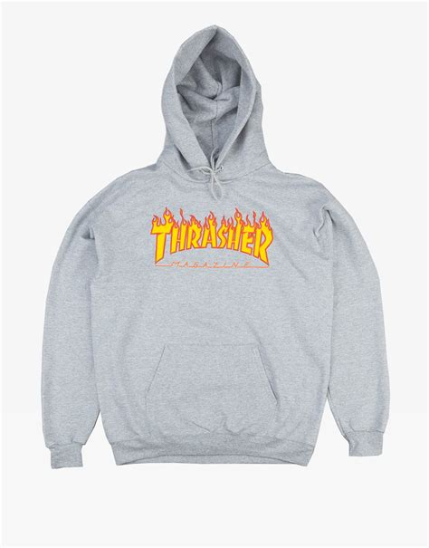 Hoodie Sweater Thrasher Skateboard Magazine thrasher magazine logo hoodie black ontheblock