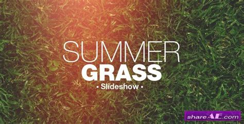 slideshow template after effects free grass slideshow after effects project videohive 187 free