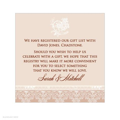 Registry Announcement Cards Template by Registry Information On Wedding Invitations Invitation