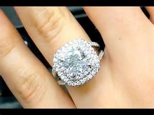 wedding rings 3 carats 3 carat cushion cut halo engagement ring
