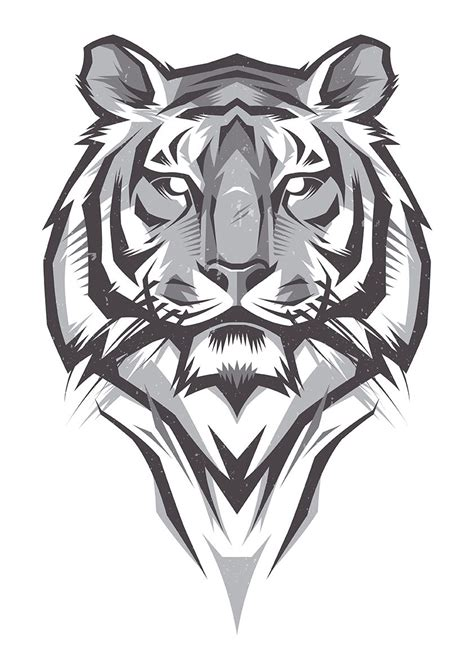 tiger head tattoo designs shulyak brothers tiger illustrations graphics