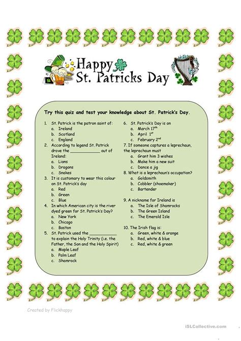 s day questions st s day quiz