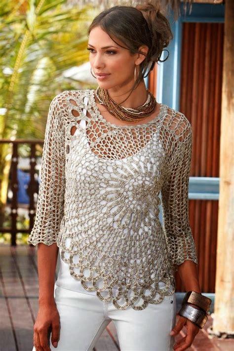 revista de crochet para este ao 2016 todo patrones blusa tejida al crochet con motivo circular todo crochet