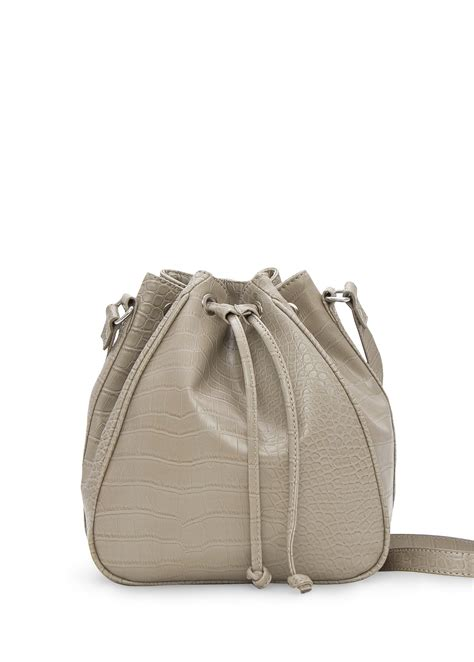 Mango Touch Bag mango touch crocodile effect bag in gray 63 lyst