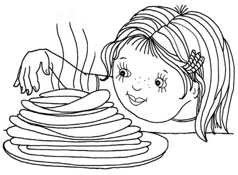 Pancake Day Coloring Pages12 Coloring Kids Pancake Colouring Pages