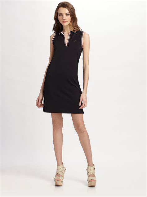 Dress Polo Polos Aic lyst lacoste stretch cotton piqu 233 sleeveless polo dress in black