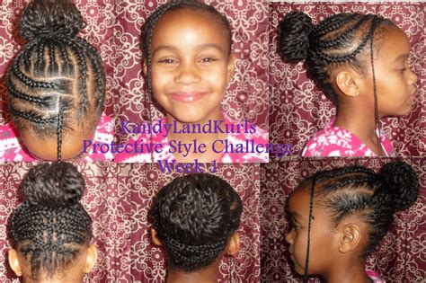 kandy braids kandyland twisted bun with criss cross braids
