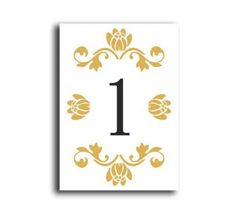 wedding table number cards table numbers wedding table numbers printable table cards