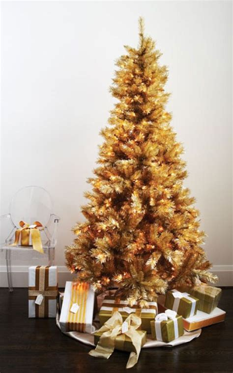 mesmerizing golden christmas tree decoration godfather style